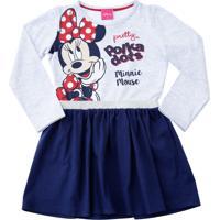 Vestido Infantil Estampa Minnie Lurex Disney