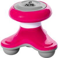 Mini Massageador Corporal Acte T150-Rs 3 Pontos De Contato Rosa