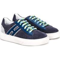 Hogan Kids Classic Low-Top Sneakers - Azul