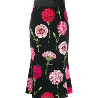 Dolce & Gabbana Saia Com Estampa - Preto