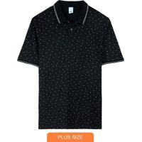 Camisa Preto Polo Geométrica
