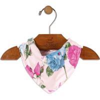 Babador Bandana Floral- Rosa Claro & Verdeup Baby - Up Kids