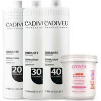 Kit Cadiveu Buriti Mechas Pó Descolorante + Oxidante 20Vol + 30 Vol + 40 Vol. - Unissex-Incolor