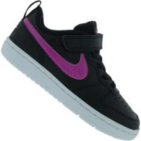 Tênis Nike Court Borough Low 2 Psv Feminino - Infantil - Preto/Rosa