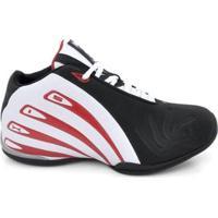 Tênis De Basquete D&R Shoes Masculino - Masculino-Preto+Branco