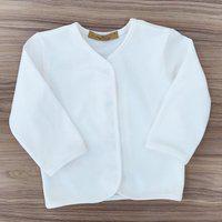 Casaco Confort Pima Para Bebê Cor: Off White Meu Ateliê Baby