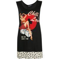 Dolce & Gabbana Blusa Chill And Love Oversized - Preto
