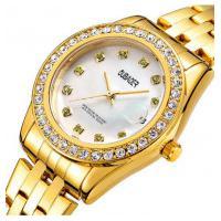 Relógio Feminino Oubaoer 6091La - Dourado E Branco