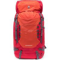 Mochila Vermelha De Viagem P/ Camping 60L Reforçada Swissport