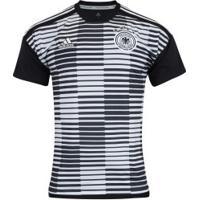Camisa Pré-Jogo Alemanha 2018 Adidas - Masculina - Preto Branco da896819b9fd5