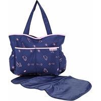Bolsa Maternidade Jacki Design Mama & Me Feminina - Feminino-Azul+Pink
