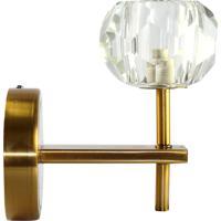 Luminaria- Pashmina- Metal E Vidro- Dourado