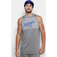 Regata Mlb Los Angeles Dodgers New Era Melange Basket Masculina - Masculino-Cinza