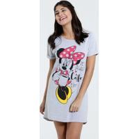 Camisola Feminina Minnie Manga Curta Disney