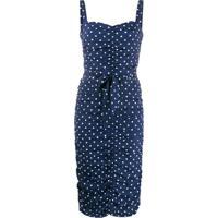 P.A.R.O.S.H. Vestido Midi Com Estampa De Poás - Azul