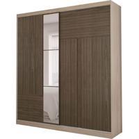 Guarda-Roupa Casal Com Espelho Agile 2 Pt 3 Gv Nogal