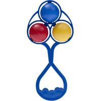 Chocalho Lolly Baby Tricolor Azul
