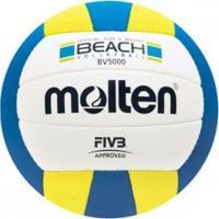 Bola Molten Beach Volei Bv5000 Bco/Azl/Amr - Molten