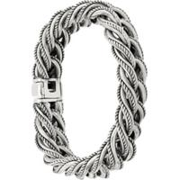 Ugo Cacciatori Rope Embossed Bracelet - Metálico