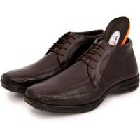 Sapato Social Br2 Footwear Couro Cano Médio Macio Masculino - Masculino-Marrom