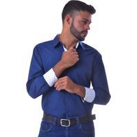 Camisa Unyforme Social Slim Azul