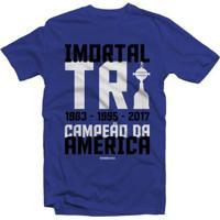 Camiseta Grêmio Tricampeão Da América Masculino - Masculino
