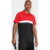 Camiseta Polo Adidas Club Td Masculina - Masculino-Vermelho