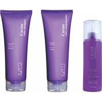 Kit Shampoo Condicionador E Leave-In K.Pro Caviar Color