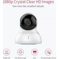 Câmera De Segurança Inteligente Wifi Hd Yi 1080P Detecta Movimento Visão Noturna/Panorâmica - Branco