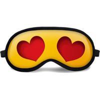 Máscara De Dormir Tritengo Apaixonado - Unissex-Amarelo+Vermelho