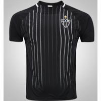 Camiseta Do Atlético-Mg Raglan - Masculina - Preto