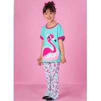 Pijama Manga Curta Visco Flamingo Kids 1