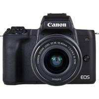 Câmera Dslr Eos M50 24.1Mp, 3.0´´ Wi-Fi Kit Ef-M15-45 Is Stm Preta Canon