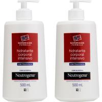 Kit Com 2 Hidratantes Corporal Neutrogena Norwegian Formula Intensivo Com Fragrância 500Ml