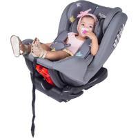 Cadeira Bebê Auto Turbo Isofix Reclinável 0 A 36Kg Baby Style Cinza