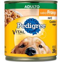Ração Para Cães Pedigree Adultos Lata Sabor Frango Com 280G