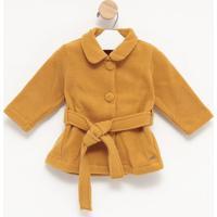 Casaco Liso Em Soft- Amarelo Escurogreen