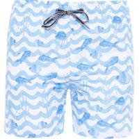 Short Infantil Água Ocean Kids - Branco