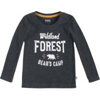 """Camiseta Flam㪠""""Forest""""- Cinza Escuro & Branca- Primpuc"""