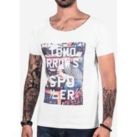 Camiseta Hermoso Compadre Tomorrow'S Spoiler Masculina - Masculino-Branco