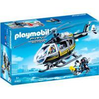 Playmobil City Action - Unidade Tática Com Helicóptero - 9363 - Sunny