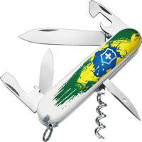 "Canivete Spartan""Pintura Brasil""- Inox & Verde- 9,1Cvictorinox"
