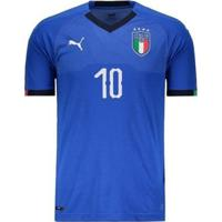 Camisa Puma Itália Home 2018 N°10 Insigne Masculina - Masculino
