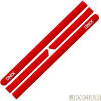 Friso Lateral - Onix 2012 Em Diante - Vermelho Peper - Autoadesivo - Jogo