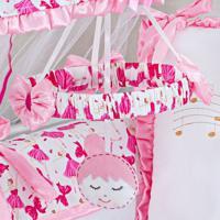 Móbile Menina Balé Musical Pink Grão De Gente Rosa