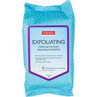 Lenço Exfoliante E Demaquilante Purederm - 22 Unid - Feminino-Azul+Branco