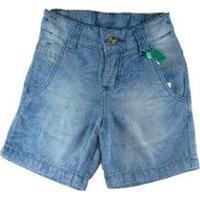 Bermuda Infantil Jeans Oliver Tropical Denin Masculina - Masculino-Azul