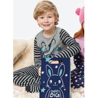 Pijama Cinza Infantil Coelhinho