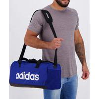 Bolsa Adidas Linear Duffel Azul