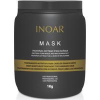 Inoar Máscara De Hidratação Mask Proteínas Do Trigo E Macadâmia 1Kg - Feminino-Incolor